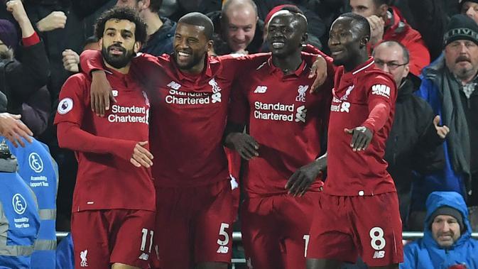 Liverpool masih bersaing ketat dengan Manchester City di papan klasemen (AFP/Paul Ellis)