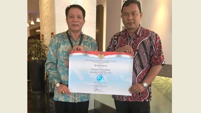 Di SAKIP Award, Pemerintah Kota Bitung memperoleh nilai 60,34 atau predikat