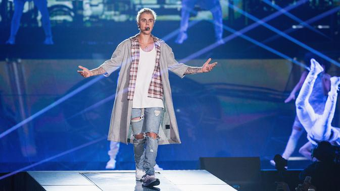 Justin Bieber (MAT HAYWARD /GETTY IMAGES NORTH AMERICA/AFP)