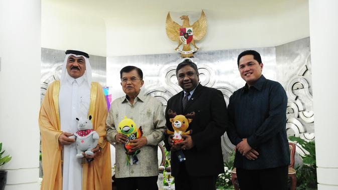 penandatanganan kontrak kerja sama dengan Panitia Pelaksana Asian Games 2018 (Inasgoc) (Liputan6.com/Pool/PR)