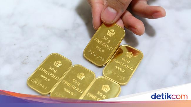 Turun Terus Harga Emas Antam Dijual Rp 660000gram Berita Lewatmana