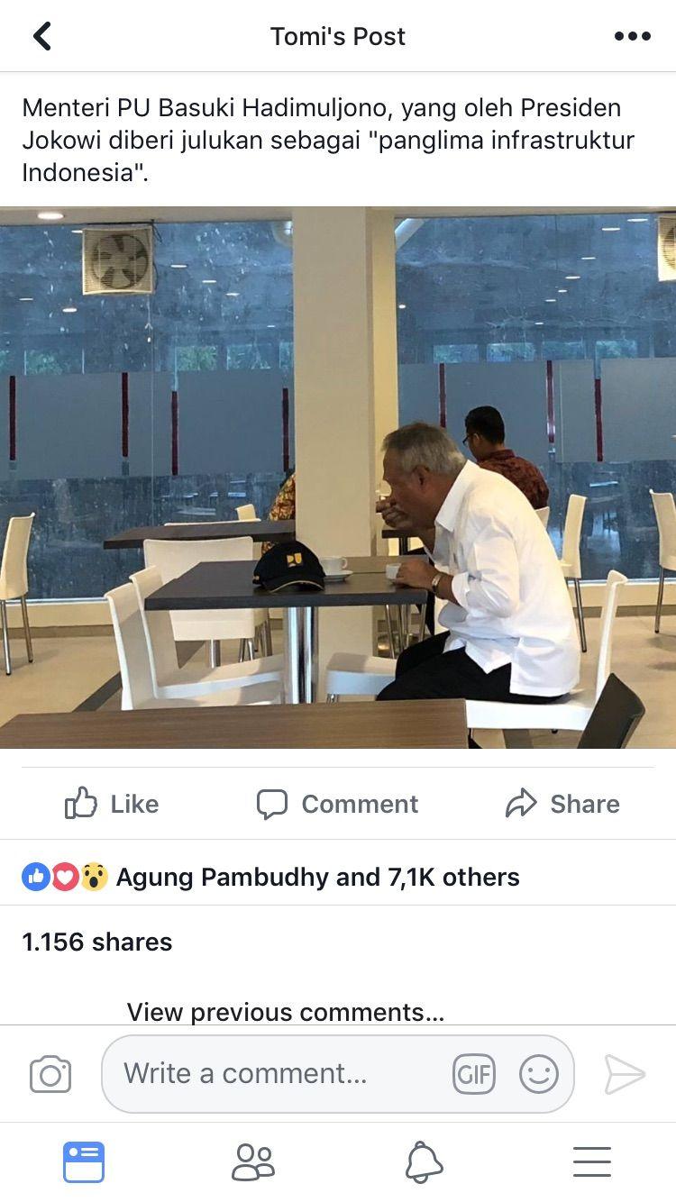 Cekrek! Menteri PUPR Tertangkap Kamera Sarapan di Hotel Murah