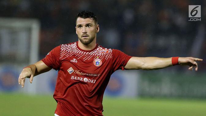 Marko Simic ditargetkan mencetak 15 gol oleh Persija di turnamen pramusim. (Liputan6.com/Helmi Fithriansyah)