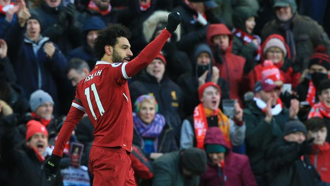 Penyerang sayap Liverpool, Mohamed Salah  (AFP/Lindsey Parnaby)