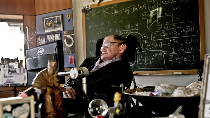 Stephen Hawking. (AFP PHOTO/LONDON SCIENCE MUSEUM/SARAH LEE)