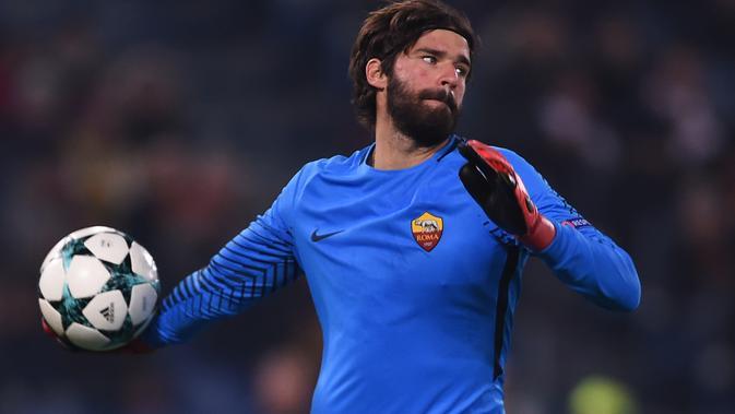 Kiper AS Roma Alisson Becker. (AFP/Filippo Monteforte)