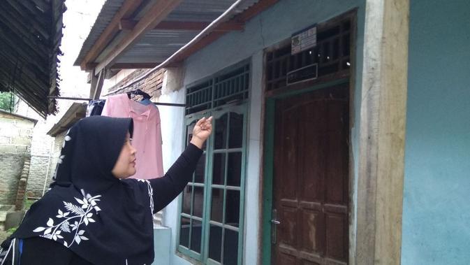 Kontrakan yang diduga penampungan tindak pidana perdagangan orang (Liputan6.com/Pramita)