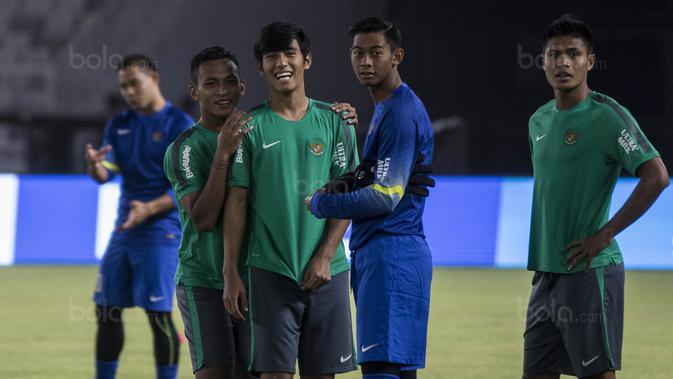Para pemain Timnas Indonesia. (Bola.com/Vitalis Yogi Trisna)