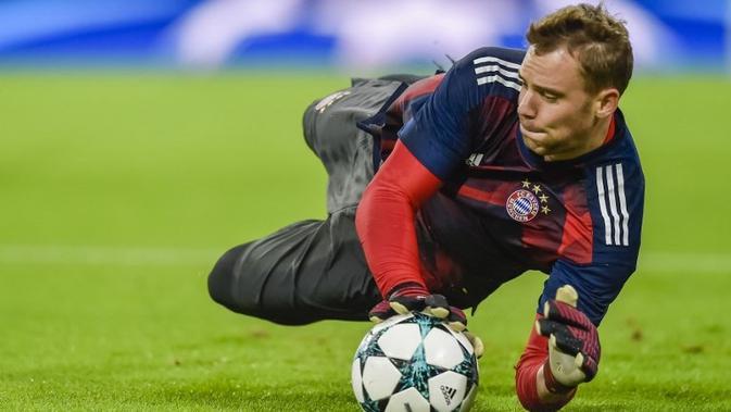 Penjaga gawang Bayern Munchen asal Jerman, Manuel Neuer. (AFP/Gunter Schiffmann)