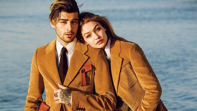 Tampilan super keren Gigi Hadid dan Zayn Malik. (Sumber foto: hollywoodlife.com)
