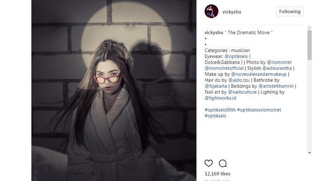 Vicky Shu menjadi salah satu model optik ternama (Foto: Instagram)
