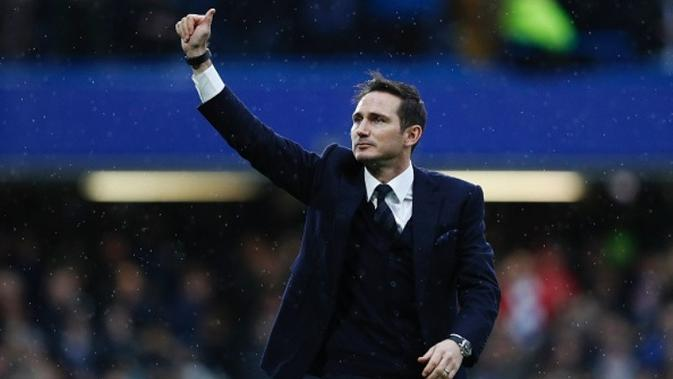 Mantan gelandang Chelsea dan Manchester City, Frank Lampard. (AFP/Adrian Dennis)