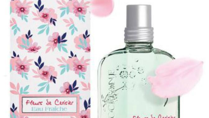 Lengkapi penampilan Anda dengan wewangian khas musim semi cherry blossom, dari L'Ooccitane.  (Foto: Liputan6.com/L'Ooccitane)