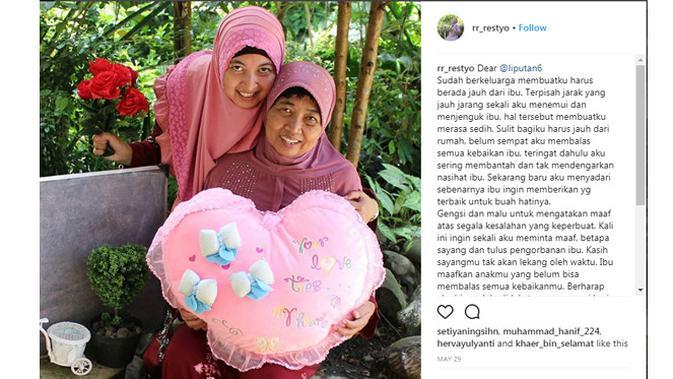 Salah satu pemenang kontes #MaafAlaGue Instagram Challenge.