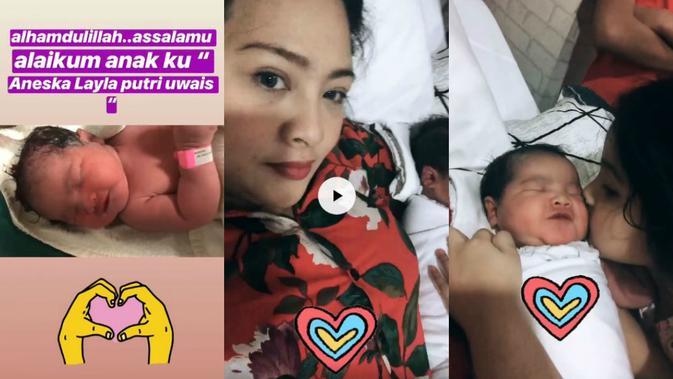 Audy Item usai melahirkan anak keduanya, Aneska [foto: instagram/audyitem]
