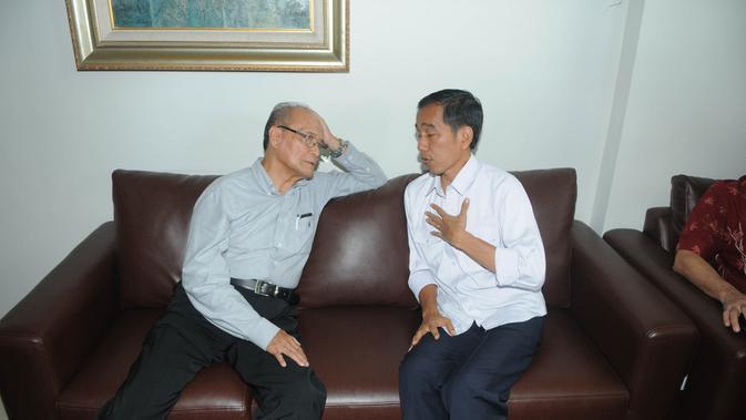 Buya Syafii Maarif dan Jokowi (Liputan6.com/Herman Zakharia)