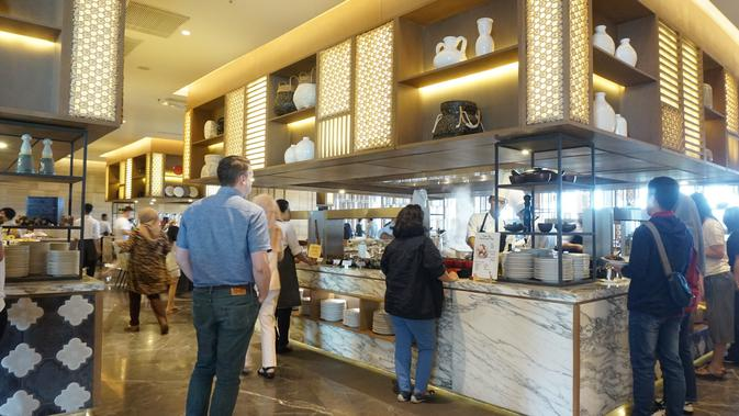 Berikut kelezatan kuliner khas Yogyakarta di hotel bintang lima Marriot. (Foto: Liputan6.com/meita fajriana)