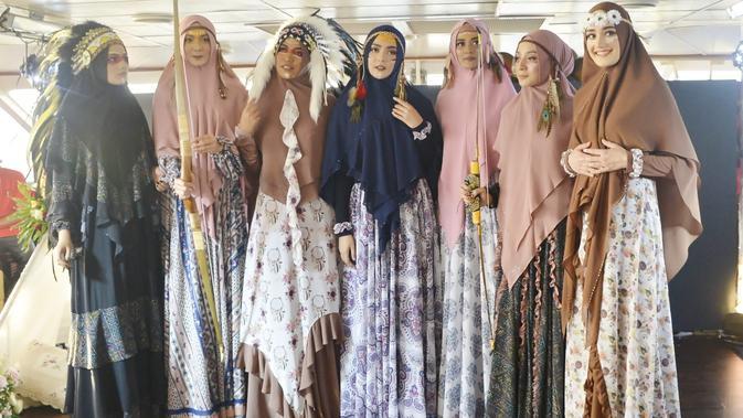 Koleksi busana muslim syari untuk Ramdan dan Lebaran bertema Bohemian dari Jawahara Syar'i (Liputan6.com/Pool/Dok. Jawhara Syar'i)