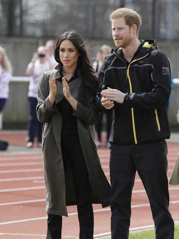 Meghan Markle-Pangeran Harry. (Kirsty Wigglesworth / POOL / AFP)