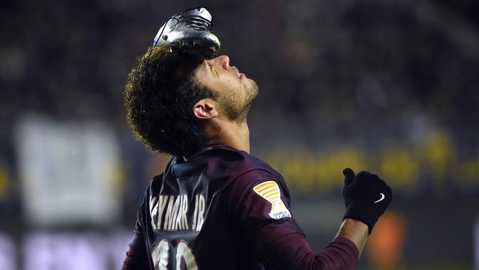 Pemain Paris Saint-Germain (PSG), Neymar  (FRANCOIS LO PRESTI/AFP)