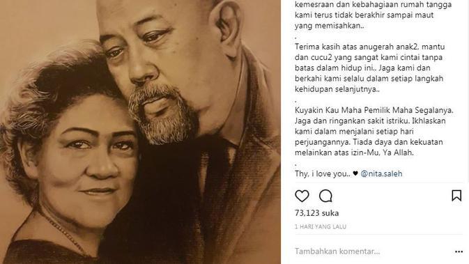 Usia pernikahan Indro Warkop dan istri telah berjalan selama 37 tahun (Instagram/@indrowarkop_asli)