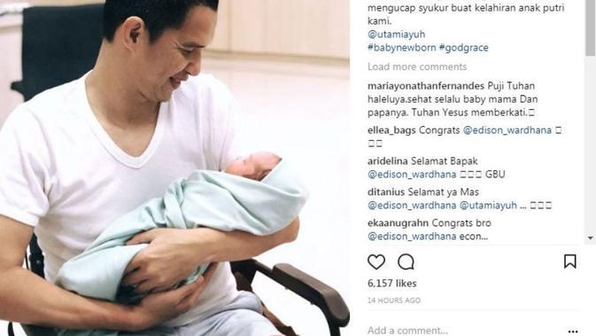 Kabar bahagia datang dari stuntman Demian Aditya, Edison Wardhana (Instagram/edison_wardhana)