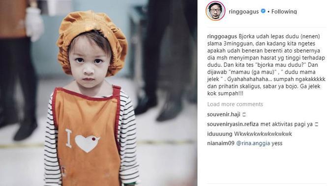 Anak Ringgo Agus Rahman, Bjorka (Foto: instagram.com/ringgoagus)