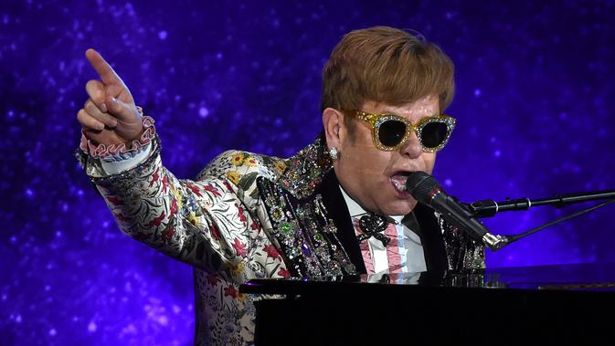Legenda pop Elton John. (AFP/Timothy A. Clary)