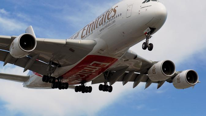 Pesawat bertingkat milik maskapai penerbangan Emirates asal Dubai (Image flickr)