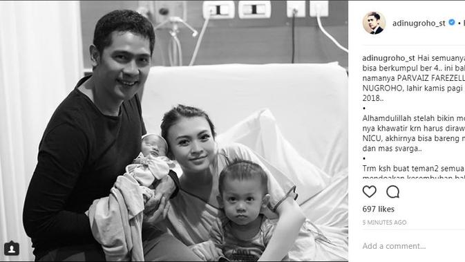 Donita baru saja dikaruniai anak kedua dari pernikahannya bersama Adi Nugroho.(Foto: Instagram)