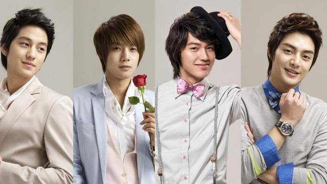 Kim Bum bersama dengan Lee Min Ho, Kim Hyun Joong dan Kim Joon yang dikenal sebagai F4 dalam Boys Over Flowers.