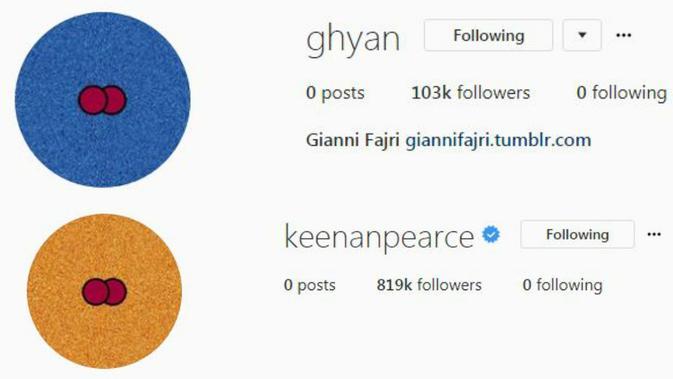 Keenan Pearce dan Gianni Fajri kosongkan Instagram jelang menikah [foto: instagram]