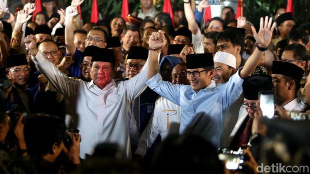 Deklarasi Prabowo-Sandiaga di Kertanegara.